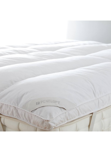 Penelope Piume Tube Kaz Tüyü Uyku Pedi Çift Kişilik 160x200+4+1 Beyaz